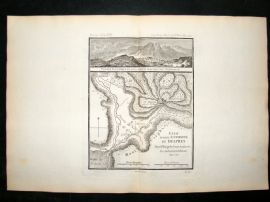 Barthelemy 1790 Antique Map Delphi, Greece